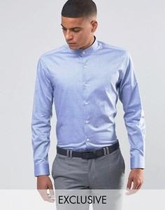 Рубашка с воротником с застежкой на пуговицы Number Eight Savile Row - Синий
