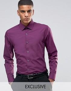 Зауженная рубашка в строгом стиле Number Eight Savile Row - Красный