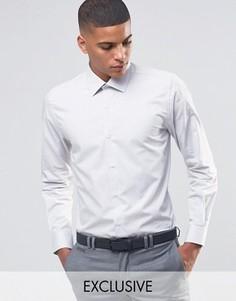Зауженная рубашка в строгом стиле Number Eight Savile Row - Бежевый