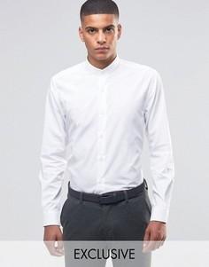 Рубашка с воротником с застежкой на пуговицы Number Eight Savile Row - Белый