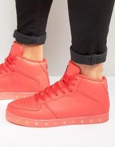 Высокие кроссовки с подсветкой LED Wize & Ope - Красный