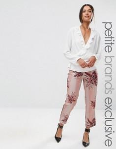 Пижамные брюки с цветочным принтом и полосками Alter Petite - Мульти