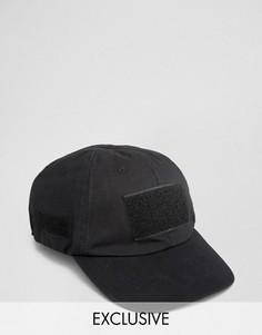 Бейсболка на липучке Reclaimed Vintage - Черный