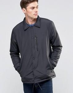 Нейлоновая куртка на пуговицах Brave Soul - Черный