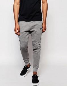 Серые флисовые джоггеры скинни Nike Tech 805162-091 - Серый