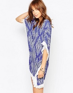 Платье-туника с принтом и бахромой Pepe Jeans - Синий