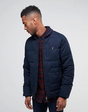 Стеганая куртка на молнии Farah - Темно-синий