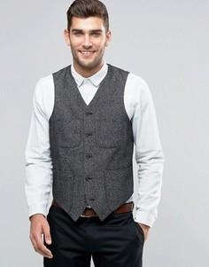 Серый жилет суперузкого кроя с карманами ASOS - Серый