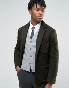 Вязаное пальто на подкладке Devils Advocate - Зеленый