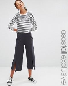 Юбка-шорты с разрезами спереди ASOS TALL - Темно-синий