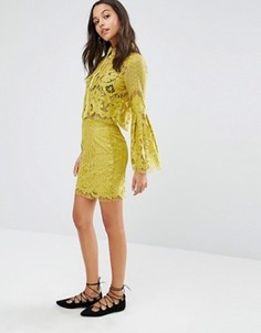 Кружевная юбка Boohoo - Зеленый