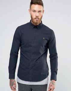 Темно-синяя оксфордская рубашка Farah - Темно-синий