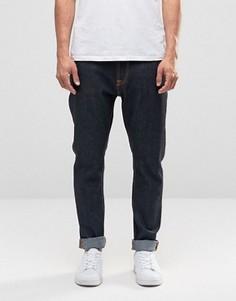 Темно-синие джинсы с заниженным шаговым швом Nudie Brute Knut - Синий