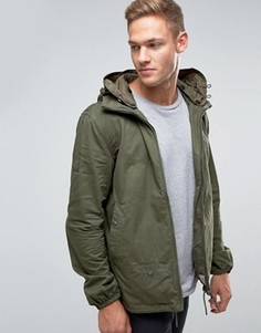 Куртка с капюшоном цвета хаки Pretty Green - Зеленый