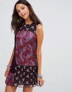 Платье с принтом Anna Sui - Фиолетовый