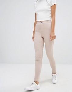 Супероблегающие джинсы с завышенной талией Boohoo - Коричневый