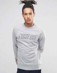 Серый свитшот с круглым вырезом Nike SB Everett Reveal 800139-063 - Серый