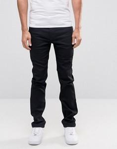 Черные узкие джинсы стретч Lee Rider - Черный