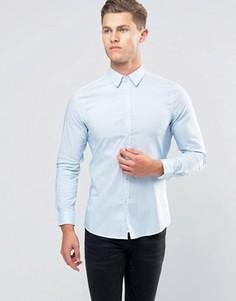 Стретчевая рубашка зауженного кроя United Colors of Benetton - Синий