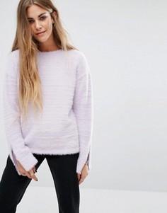Фактурный джемпер с молниями Glamorous - Фиолетовый