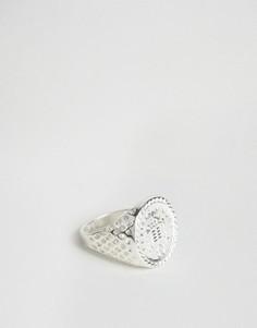 Серебристое кольцо Chained & Able Old English - Серебряный