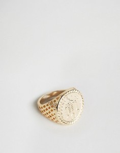 Золотистое кольцо Chained & Able Old English - Золотой