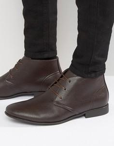 Коричневые ботинки чукка ASOS - Коричневый