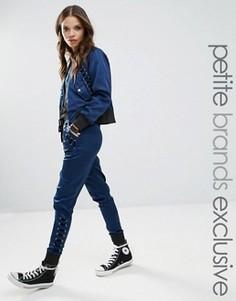 Спортивные штаны со шнуровкой Glamorous Petite - Темно-синий