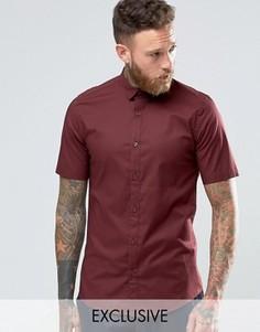 Строгая рубашка скинни с короткими рукавами Only & Sons - Красный