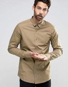 Стретчевая рубашка скинни Only & Sons - Рыжий