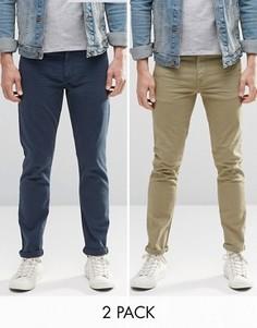 2 пары джинсов скинни ASOS - СКИДКА - Мульти