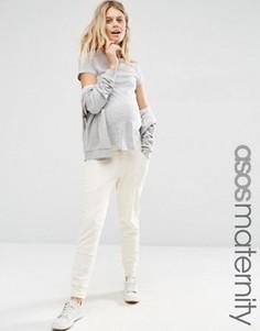 Спортивные домашние шаровары для беременных ASOS Maternity - Кремовый