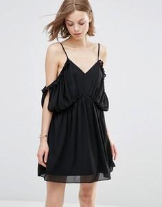 Платье с открытыми плечами Parisian - Черный
