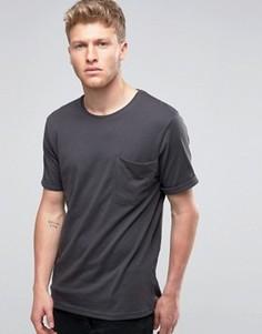 Футболка с крупным карманом Ringspun - Черный