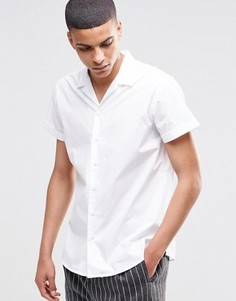 Рубашка с короткими рукавами и отложным воротником Selected Homme - Белый