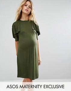 Платье-футболка для беременных ASOS Maternity - Зеленый