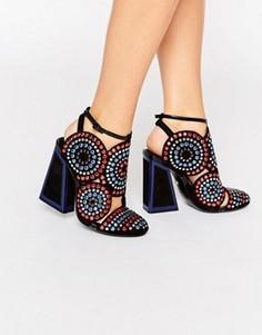 Туфли на каблуке с декоративной отделкой Kat Maconie Frida - Мульти