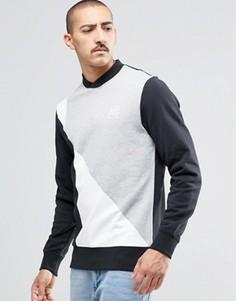 Серый свитшот с круглым вырезом в стиле ретро Reebok AY1217 - Серый