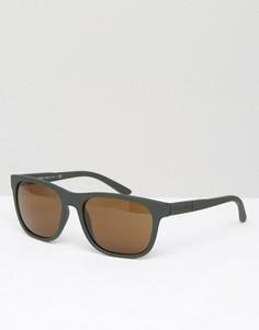 Зеленые солнцезащитные очки в стиле ретро Giorgio Armani - Зеленый