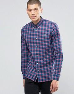 Рубашка в клеточку кроя слим Fred Perry - Красный
