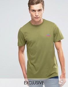 Оливковая эксклюзивная футболка с логотипом гор Penfield - Зеленый