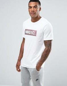 Белая футболка Nike FC 805521-100 - Черный