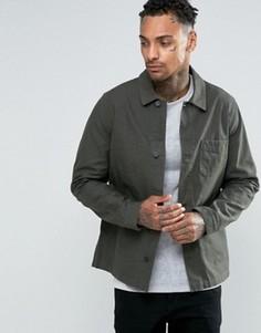 Куртка цвета хаки в стиле милитари ASOS - Зеленый