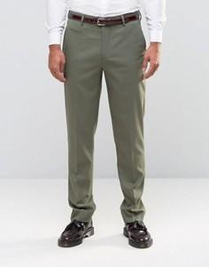 Строгие брюки узкого кроя цвета хаки ASOS - Зеленый