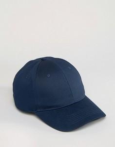 Темно-синяя бейсболка ASOS - Темно-синий