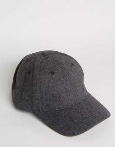 Темно-серая бейсболка ASOS - Серый