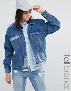 Джинсовая куртка в стиле пэтчворк Waven Tall - Синий