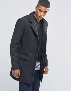 Пальто в елочку со съемной подкладкой Selected Homme - Черный