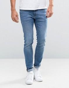 Голубые джинсы скинни Jack & Jones Intelligence - Черный