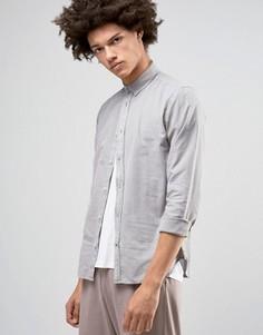 Оксфордская рубашка на пуговицах Solid - Серый